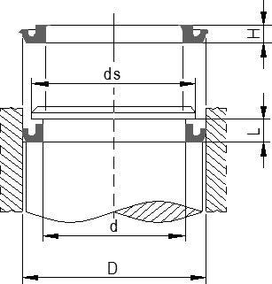Guarnizioni a labbro per cilindri pneumatici